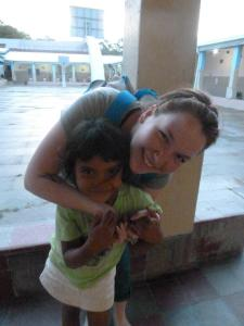 Deysi Teresa and I at the orphanage